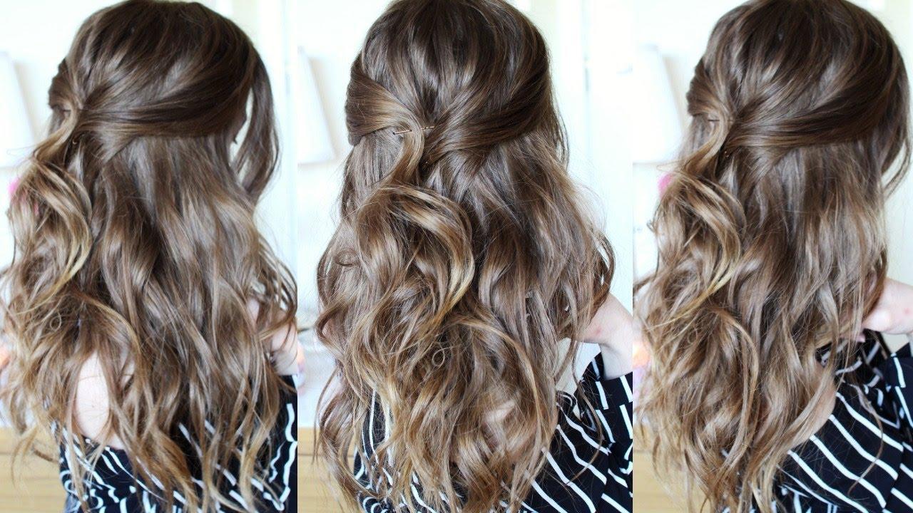 Half Up Beachy Wave Hair Tutorial Half Up Hairstyles