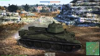 War Thunder Tanks краткий обзор  Танк Т 34 1942 года