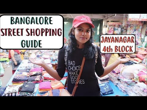 Bangalore Street Shopping Guide - Jayanagar 4th Block Shopping Tour with Price   AdityIyer