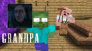Monster School: GRANDPA HORROR GAME CHALLENGE-Minecraft Animation