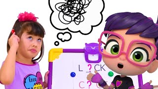 Abby Hatcher pretend play funny school!! Educational videos for kids!