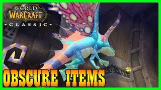 Classic World of Warcraft Highly Obscure Items Vanilla WoW