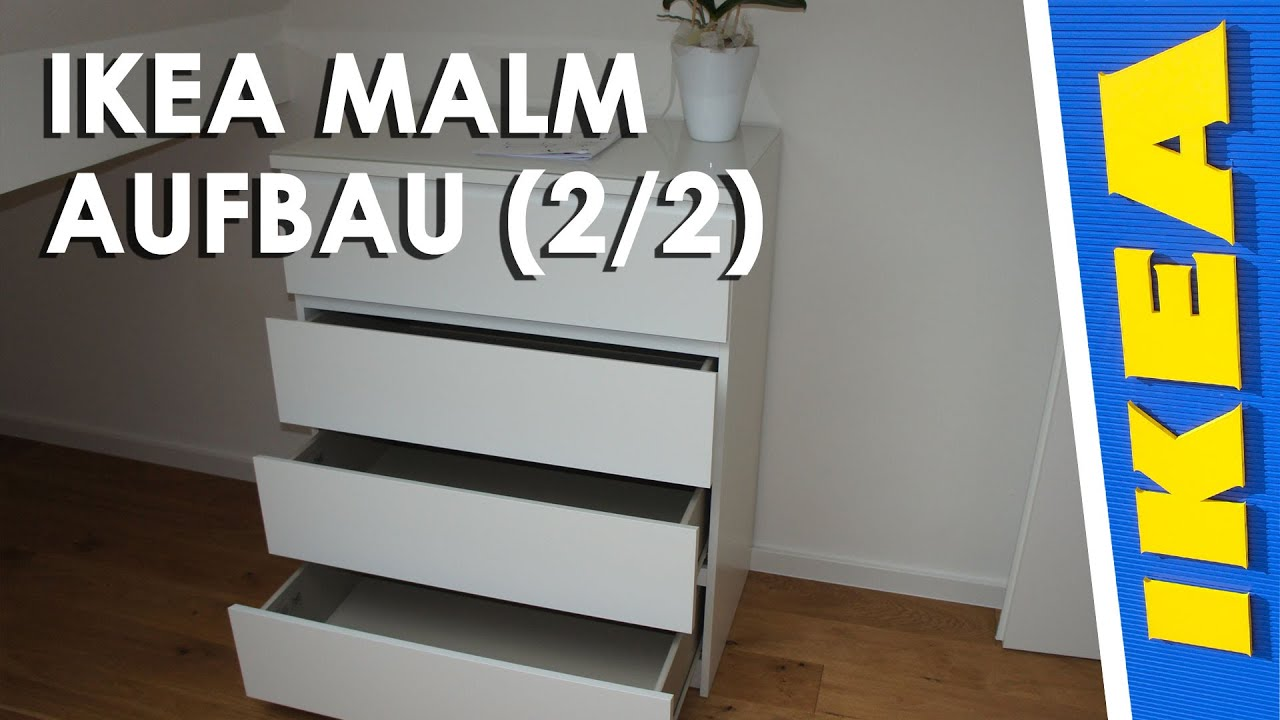 ikea malm aufbau 2 2 youtube. Black Bedroom Furniture Sets. Home Design Ideas