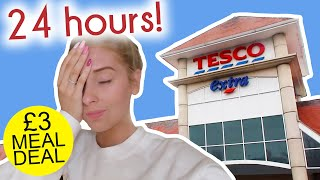 I only ate TESCO MEAL DEALS for 24 HOURS!!