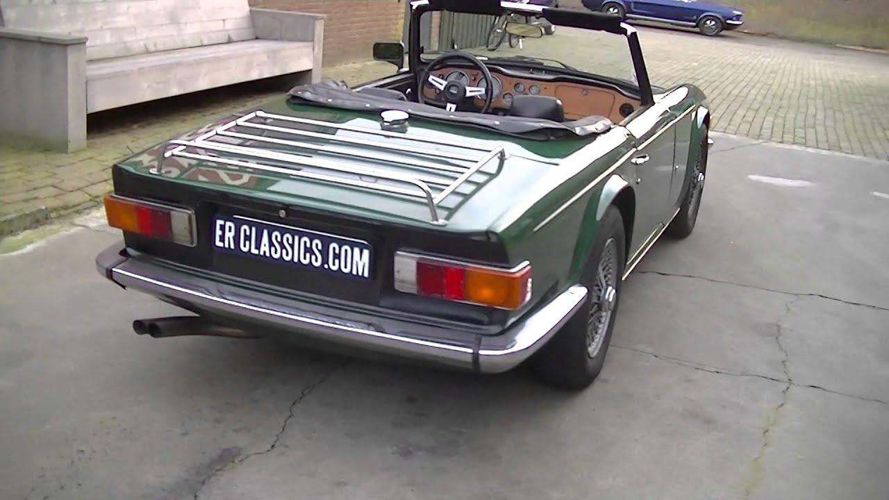 Triumph TR6 British Racing Green Wire wheels-VIDEO- www.ERclassics ...