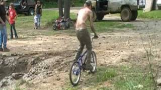 Mudding on a bike