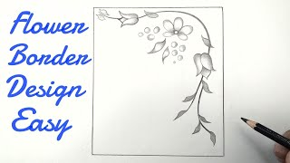 How To Draw Flower Border Design Easy Drawing Flower Border Design Simple Easy Floral Designs