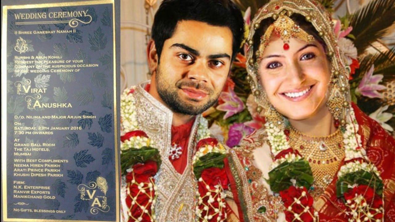 Anushka Sharma  Virat Kohli Wedding Card Leaked  - Youtube-1281