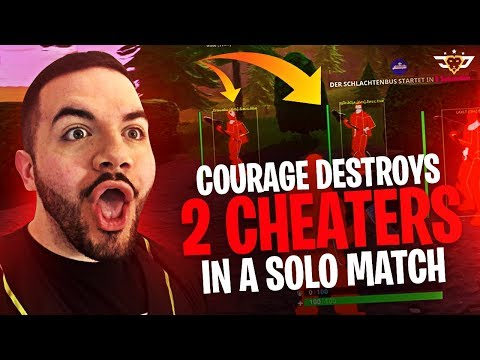 COURAGE DESTROYS TWO CHEATERS IN A SOLO MATCH?! (Fortnite: Battle Royale)