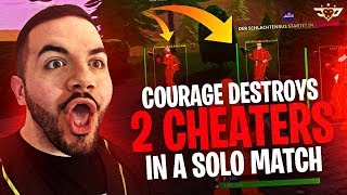 COURAGE DESTROYS DEUX CHEATERS DANS UN MATCH SOLO?! (Fortnite: Bataille Royale)