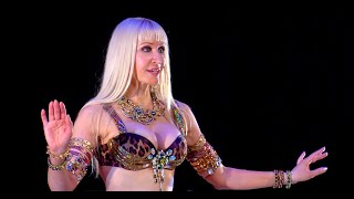 Belly Dance How to: Reversed Undulation / Body Wave Move - Belly Dancing - with Neon
