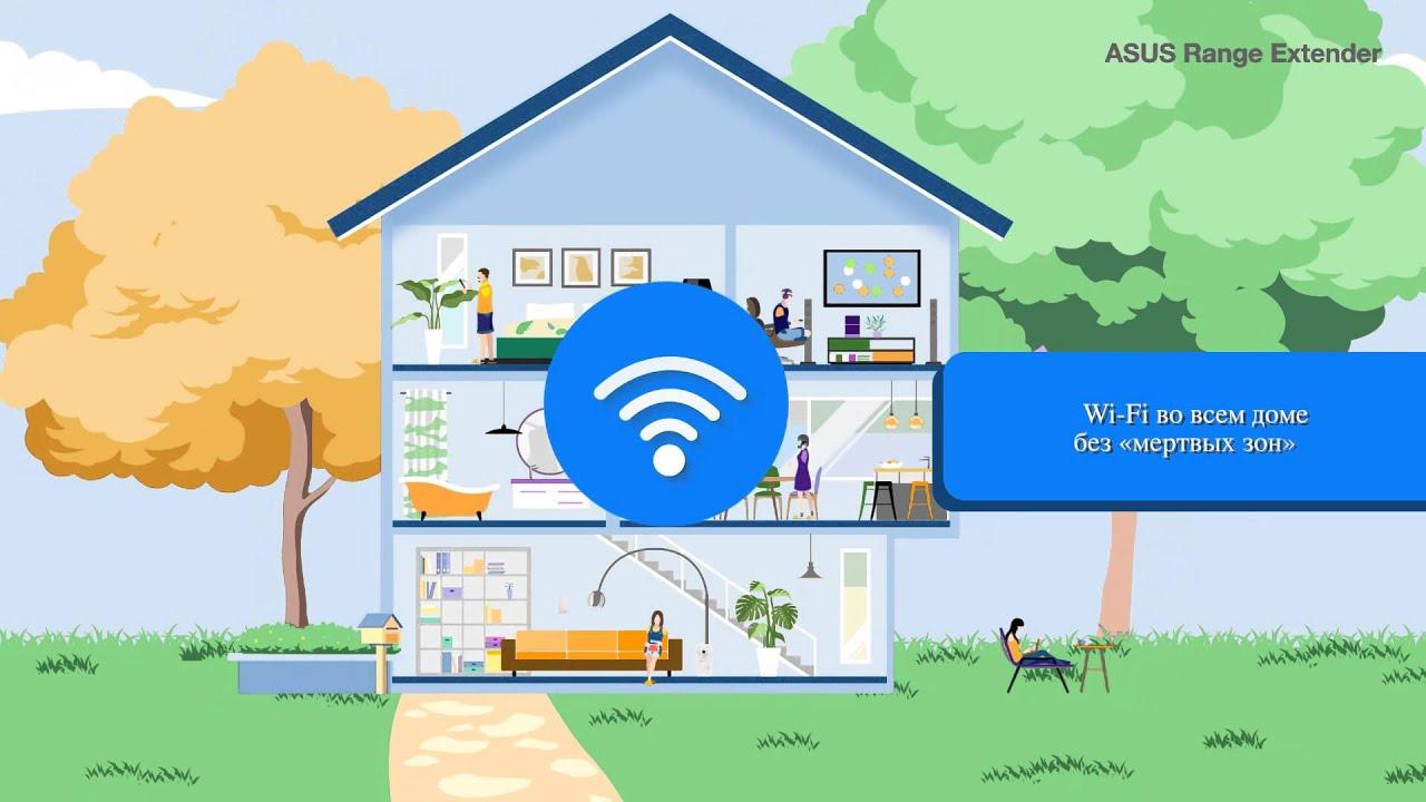 Причиной тому может быть работа других устройств, металлические бытовые электроприборы или особенности архитектурной конструкции дома, из-за которых сигнал даже самого мощного роутера может не достигать некоторых областей. Повторители wifi — это простой и экономичный способ.