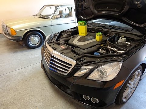 DIY W212 Mercedes Benz E350 oil change AND assyst  OIL service reset