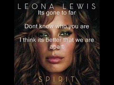 Leona Lewis - You Bring Me Down