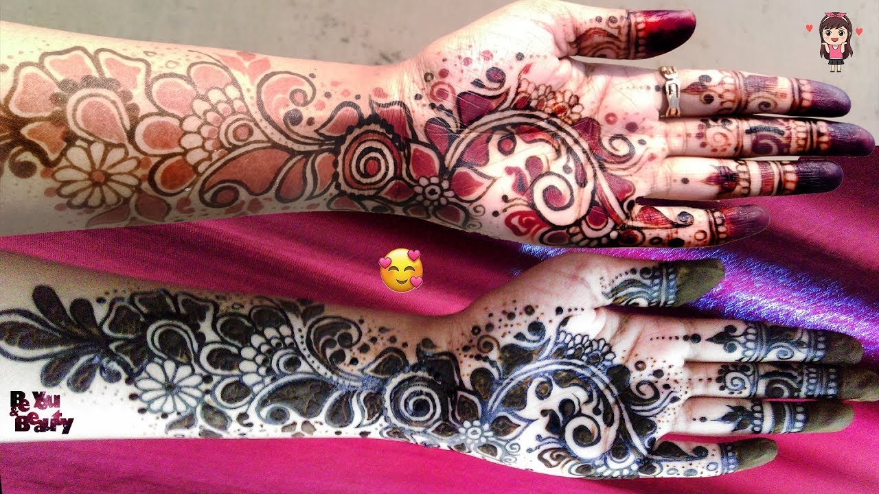 black and red mehndi designs be you and beauty