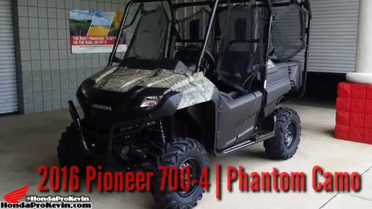 2016 honda pioneer 700 4 camo utv side by side atv sxs walk around video sxs700m4 youtube
