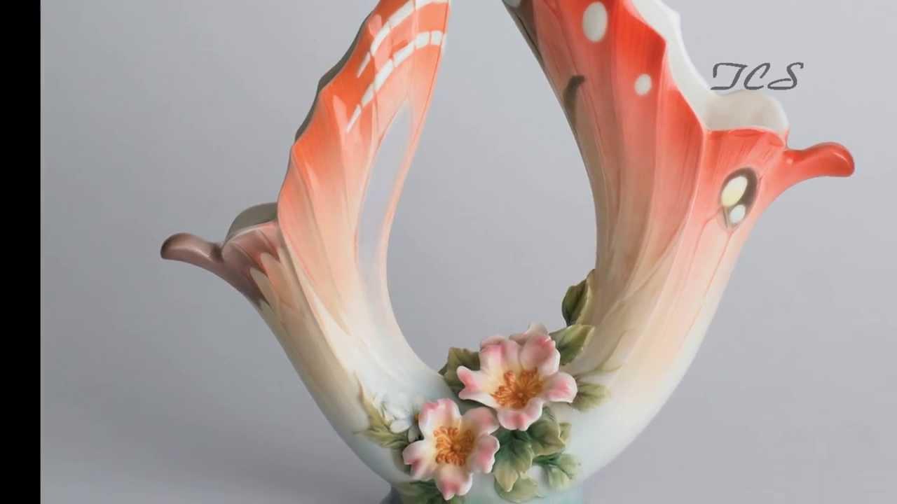 Franz porcelain papillon butterfly vase youtube franz porcelain papillon butterfly vase the collection shop reviewsmspy