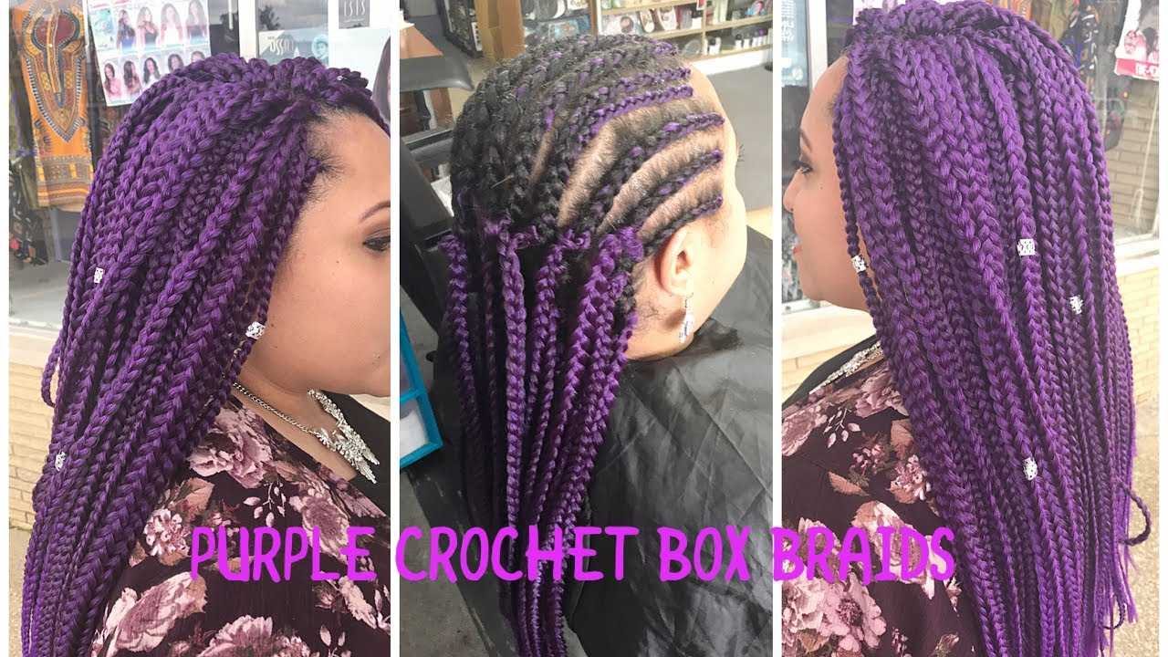 Violet Purple Crochet Box Braids Amour Natty Box Braids