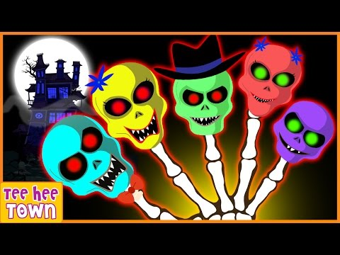 Skeleton Finger Family Rhymes | Funny Colors Skeleton Rhymes | Scary Nursery Rhymes by Teehee Town