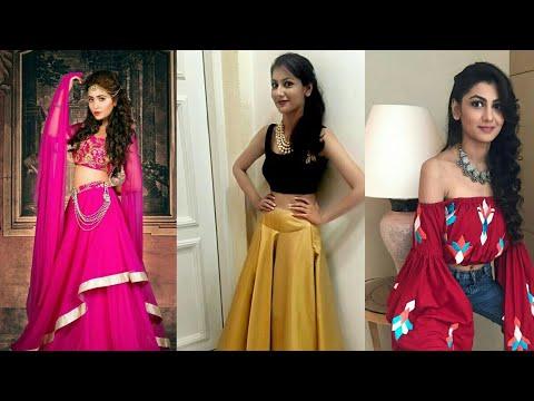 Sriti Jha (pragya)ofkumkumbhagya designer dress 👗 collection real life photos