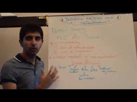 Y2/IB 9) Political Stability, Corruption and Development