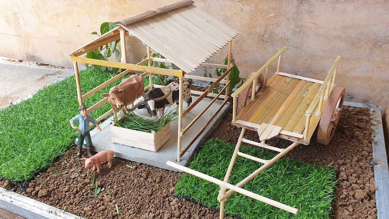 DIY How To Make Cow Shed Animals Home