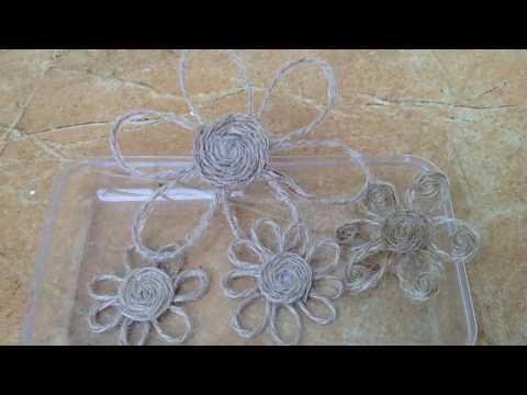 Simple Decorative Twine Flower making|| Diy Jute Flower making