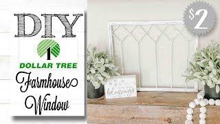 DIY Dollar Tree Farmhouse Window | ONLY $2.00!!