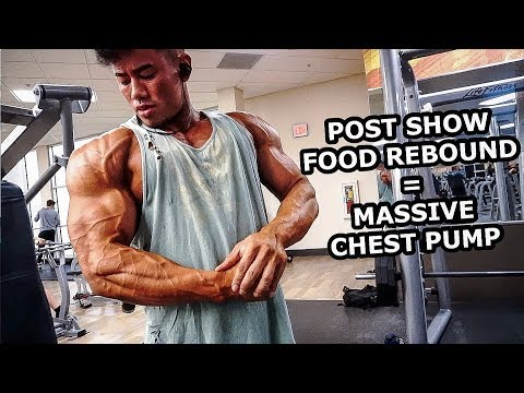  POST- SHOW FOOD REBOUND = MASSIVE CHEST PUMP   SWOLE ' O CLOCK WATCH REVIEW