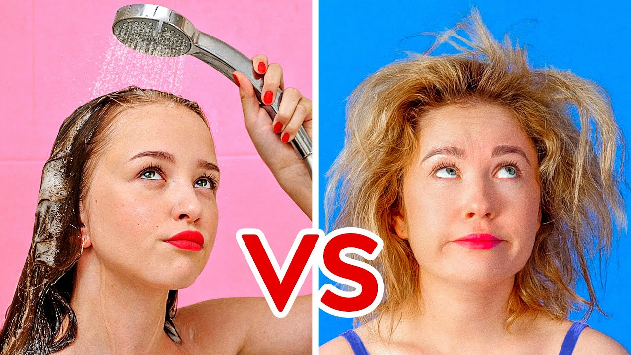 Download SHORT HAIR VS LONG HAIR PROBLEMS || Funny Awkward Situations by 123 GO!