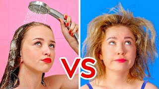 SHORT HAIR VS LONG HAIR PROBLEMS || Funny Awkward Situations by 123 GO!