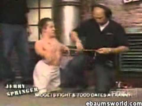 Excellent fight jerry midget springer