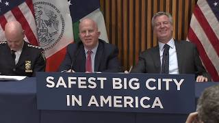 Mayor de Blasio & Police Commissioner O'Neill Hold Media Availability Regarding Crime Statistics