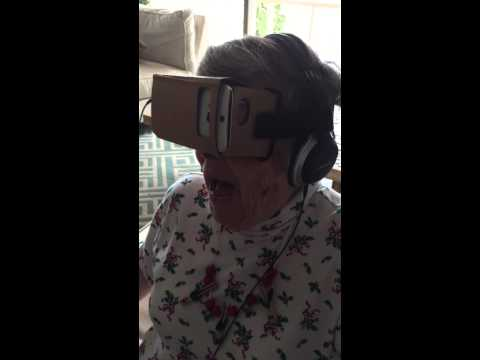 Google Cardboard VR Leaves Granny Jaw-Dropped
