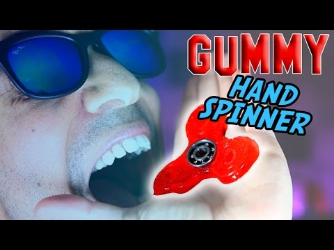 DIY EDIBLE GUMMY HAND SPINNER FIDGET TOY! How to Make Spinners that you can eat!