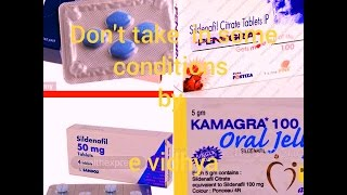 Sildenafil citrate  :  May be  harmful  in some condition