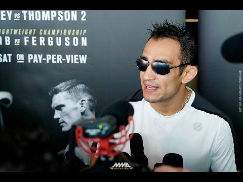 Tony Ferguson UFC 209 Open Workout Scrum