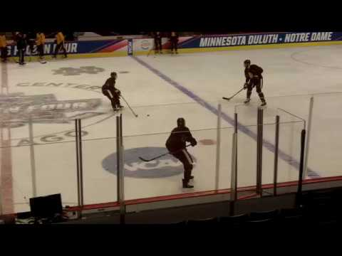 Minnesota Duluth practice on Frozen Four Friday