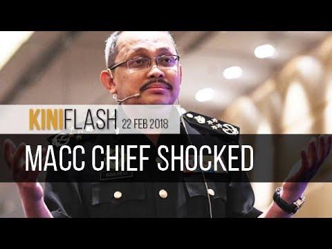 KiniFlash - 22 Feb: MACC boss shocked by Malaysia's 'worst ever' graft ranking