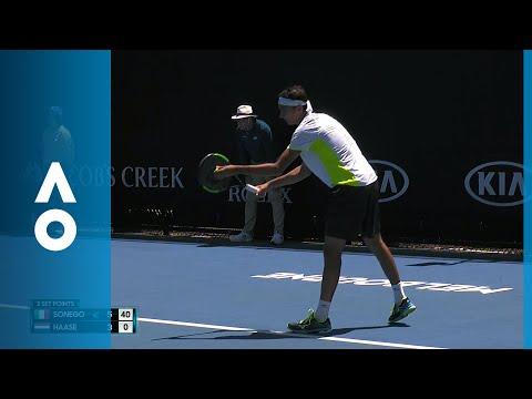 Lorenzo Sonego v Robin Haase match highlights (1R)   Australian Open 2018