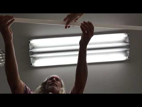How to clean your LED ceiling light cover and change the bulbs