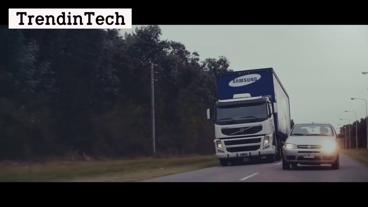 Cool Stuff Samsung Safety Truck YouTube - Samsung safety truck shows the road ahead so cars can safely pass