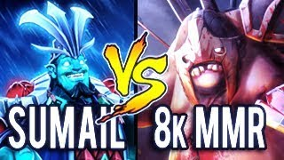 SumaiL Storm God Vs 8k MMR Pudge Impossible Hook in Newest Immortal Set Dota 2