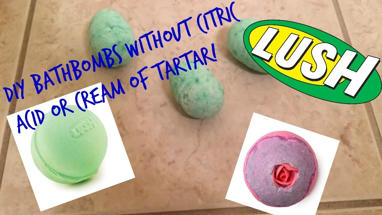 Diy Bath Bombs Without Citric Acid Or Cream Of Tartar Youtube