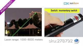 DX: G301 Green Laser Pointer Pen Focus 532nm Burning Laser Visible Adjustable Beam