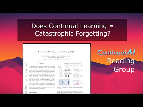 """ContinualAI RG: """"Does Continual Learning = Catastrophic Forgetting?"""""""