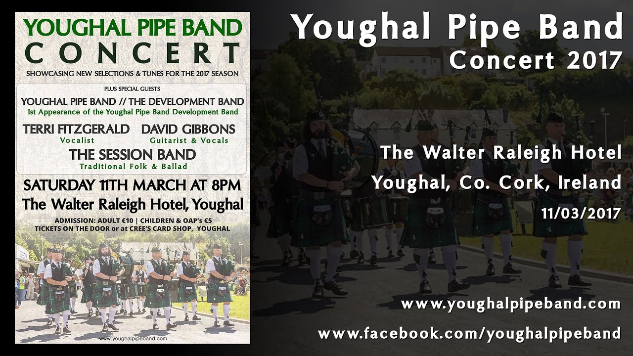 youghal pipe band in concert 2017 - www.youghalpipeband - youtube