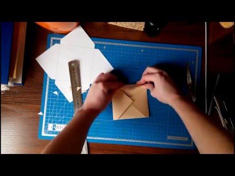Шаблон конверт скрапбукинг