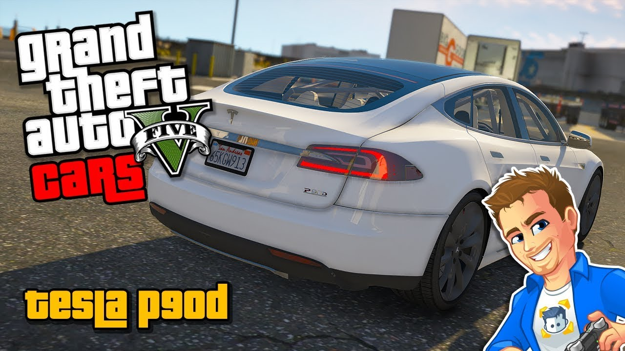 Gta 5 Cars Tesla Model S P90d Electric Car Mod V Custom Addon Mods
