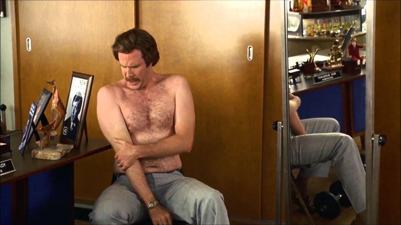 Will Ferrell Anchorman Workout Scene Youtube